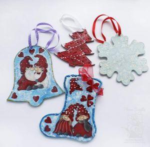 "Christmas toys set ""Gnomes"""