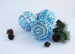 "Christmas Tree Ornament ""Glam Blue"""