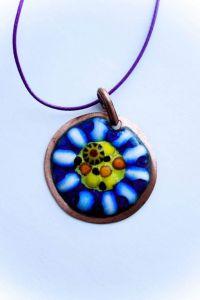 "Circle pendant necklace ""Kaleidoscope"""