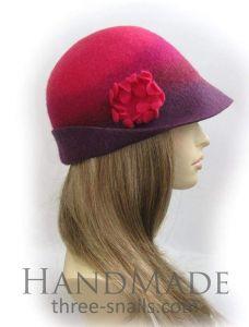 """Cloche hat """"Ladies'  caprice"""""""