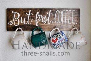 Coffee hook rack