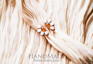 "Copper ring ""Daisy"""