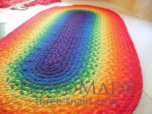 Cotton oval area rug