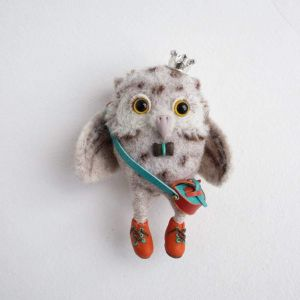 """Craft gifts""""Owl in crown"""""""