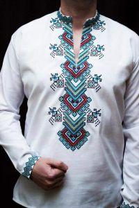 Custom embroidered shirt (vyshyvanka)