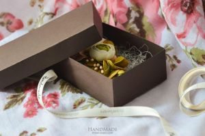 """Decorative hair clips """"Olive flower"""""""