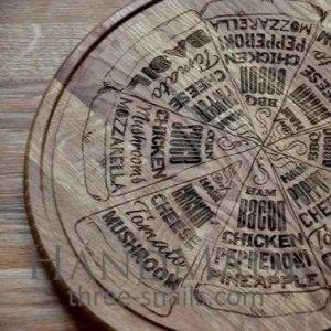 Decorative round cutting board