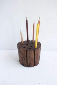 Decorative rustic pen holder centerpiece