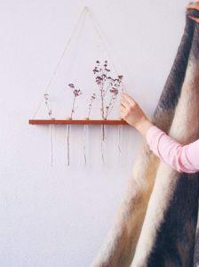 Decorative test tube shelf