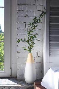 Decorative wood flower vase