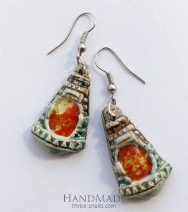 """Designer earrings""""Ethnic triangle"""""""