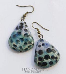 """Drop earrings """"Sea beach"""""""