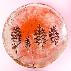 Leaves pattern plate