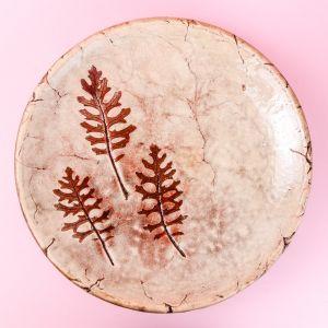 Ceramic leaf pattern plate