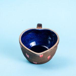Heart shaped ceramic mug