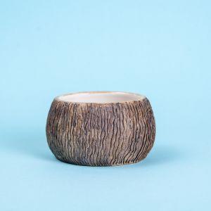 Textured clay coffee mug