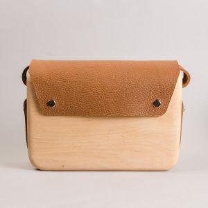 Wooden shoulder bag