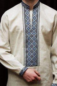 Embroidered clothing. Men shirt (vyshyvanka)