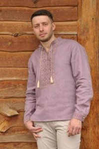 """Embroidered shirt for men """"Pure"""""""