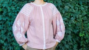 """Embroidered woman blouse """"Pink dream"""""""