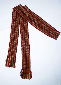 """Ethnic woven belt kraiika """"Hutsul"""""""