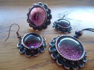"Fashion jewelry set ""Lilac"""