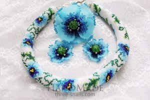 Fashion jewelry sets. Jute