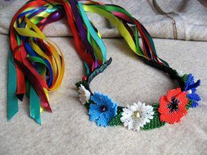 "Floral headband ""Bright ethno"""