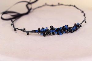 "Floral headbands""Blue crystals"""