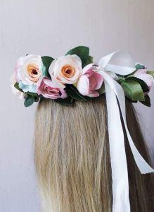 "Flower crown headband ""Rose mix"""
