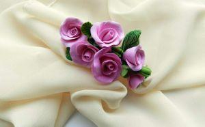 "Flower girl hair accessories ""Rose branch"""