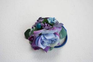"Flower hair accessories ""Blue flowers"""