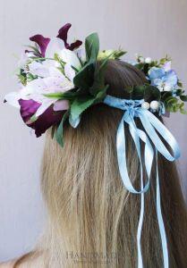 "Flower headband ""Lilac tenderness"""