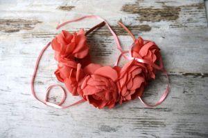 "Flower headbands for women ""Coral roses"""