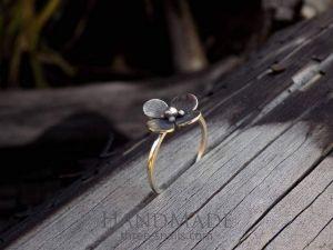 "Flower silver ring ""Spring"""
