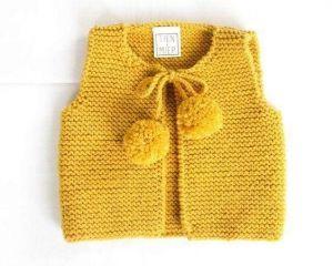 Girl knitted vest cardigan