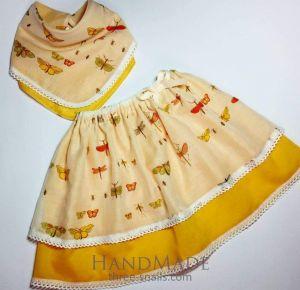 """Girl summer clothing set """"Butterflies"""""""