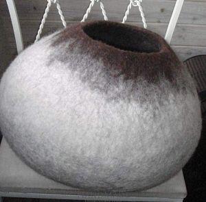 Grey wool pet house