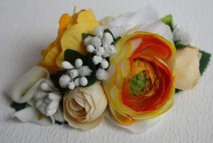 """Hair clips """"Yellow flowers"""""""