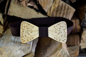Hand made wood bow tie