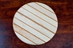 Handcrafted Carved Round Board
