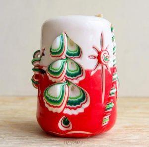 "Handmade Christmas candle ""Happy holiday"""
