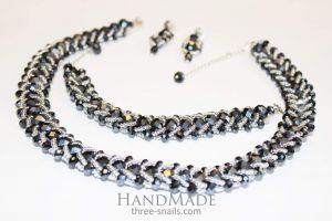 Handmade designer jewelry set «Exquisite»