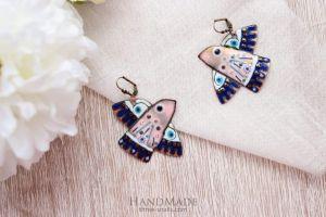 "Handmade earrings ""Blue bird"""