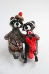 "Handmade gifts""Couple of raccoons"""
