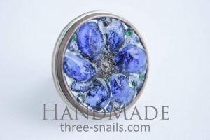 """Handmade rings """"Blue flower"""""""