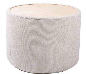 Handmade round pouf chair