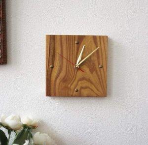 "Handmade wood wall clock ""Rendezvous"""