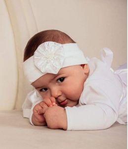 "Headband for baby girls ""Baptism day"""