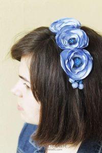 "Headband for women ""Blue moment"""